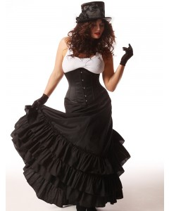 Plus Size Black Victorian Bustle Skirt