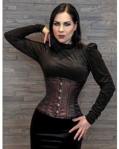 Playgirl Steel Boned Brown Shadow Stripe Cincher Corset