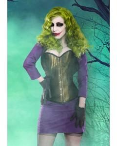 The Joker Corset With Purple Bolero & Skirt Outfit