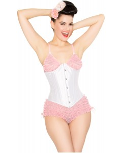 Playgirl Faith 24 Steel Boned White Waist Training Corset