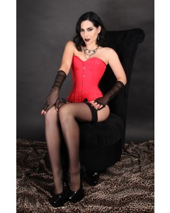 Kinnaird Ireland Dita Corset In Rouge Duchess Satin