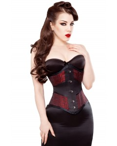 Playgirl Faith Wisp Waist Training 24 Bone Corset In Brocade & Satin