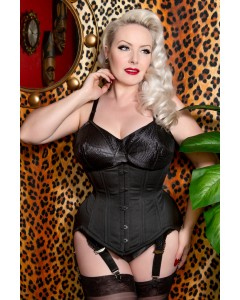 Plus Size Curvella Long Waist Training Cotton Corset