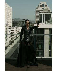 The Matrix Black Leather Corset