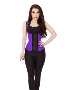 Playgirl Purple Latex Waist Trainer Sports Vest