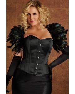 The Raven Black Duchess Satin Corset