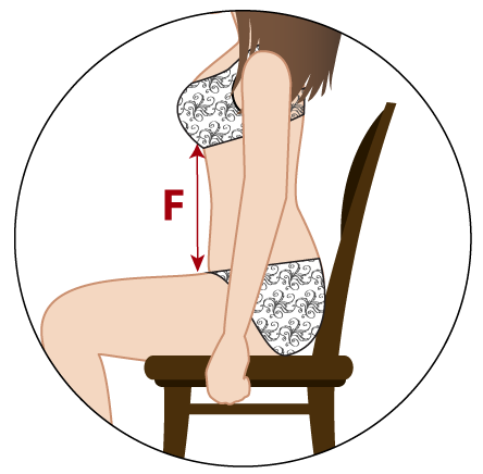 Visual illustration showing how to measure your torso for a waist training corset